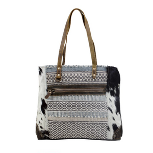 MUTI PATTERNED TOTE BAG BY MYRA BAGS