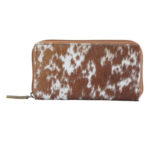 MILKY WAY LEATHER AND HAIRON WALLET BY MYRA BAGS