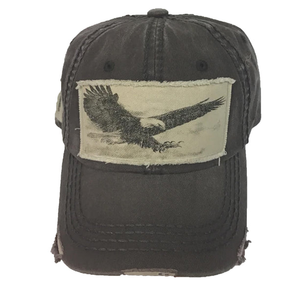 BALLCAP - EAGLE - GRAY