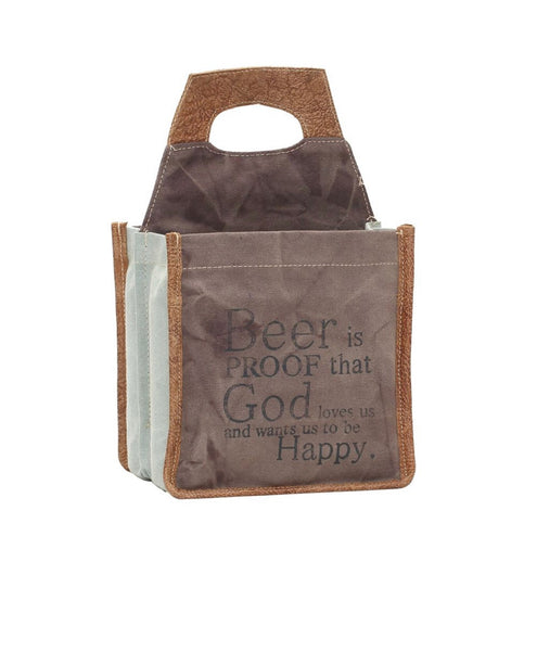 CRUSH CANVAS BEER CADDY BY MYRA BAGS