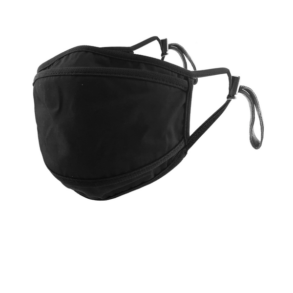 SOLID BLACK ADJUSTABLE FACE MASK