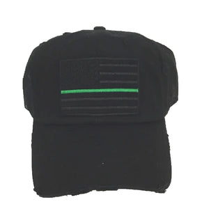 GREEN LINE BASEBALL CAP / HAT