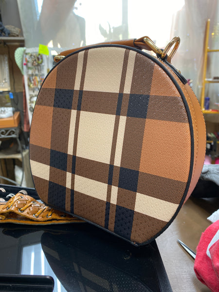 PLAID ROUND - Brown