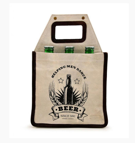 HELPING MEN DANCE BEER TOTE