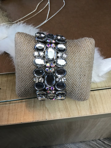 CRYSTAL AND RHINESTONE BRACELET