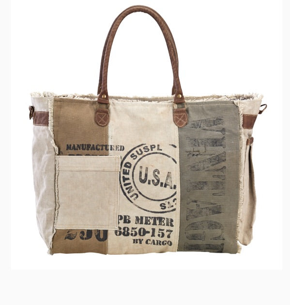 USA MILITARY REPURPOSE CANVAS TOTE