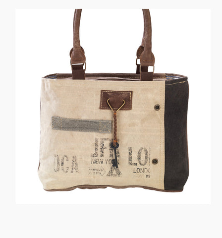 JFK MILITARY CANVAS TOTE