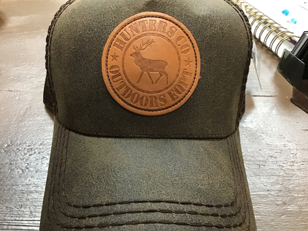 HUNTERS COMPANY BASEBALL CAP / HAT (DARK BROWN)