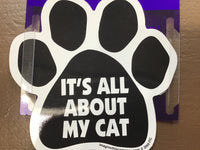 CAR MAGNET - ABOUT MY CAT