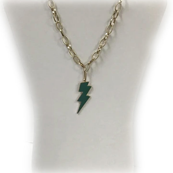 LIGHTNING BOLT EPOXY NECKLACE