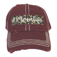 MOM LIFE BASEBALL CAP / HAT (BURG)