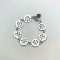 PAW CHARM BRACELET WITH HEART