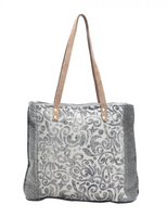 LEAF PRINT CANVAS TOTE BAG by MYRA BAGS