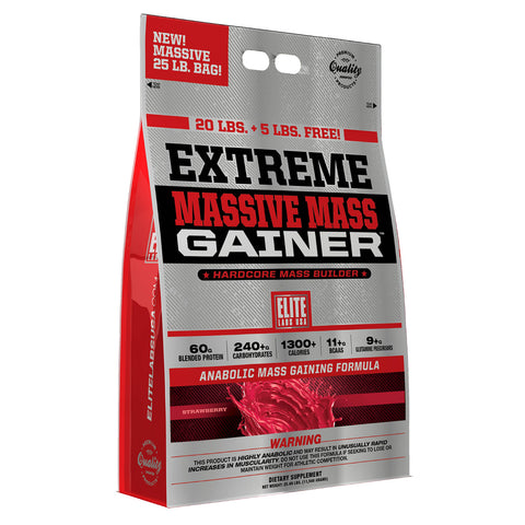 EXTREME MASSIVE MASS GAINER STRAWBERRY 25 lbs.