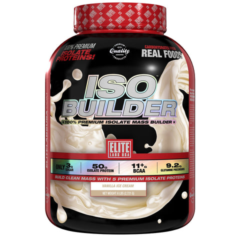 ISO BUILDER VANILLA ICE CREAM 6 lbs.