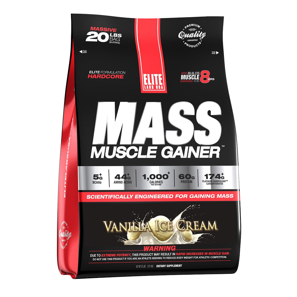 MASS MUSCLE GAINER VANILLA ICE CREAM 20 lbs.