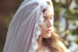 Hand Beaded Mantilla Veil