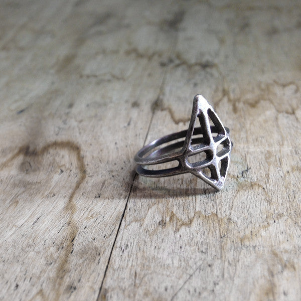 Ruuti Ring Oxidized Silver