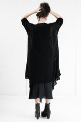 Bamboo Robe Black, Hand Knitted