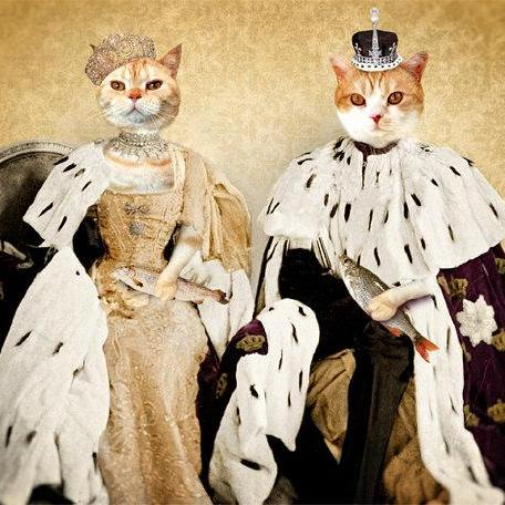 Cat Art Print - Rulers of Household