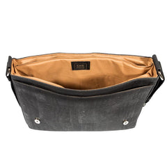 Messenger Laptop Bag Black Cork