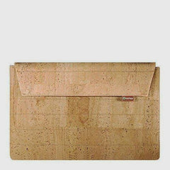 Cork Case with zipper / Sleeve to Ipad Light Brown