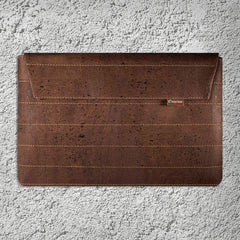 Cork Case with zipper / Sleeve to Ipad Dark Brown