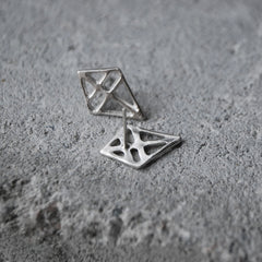 Ruuti Earrings Oxidized Silver