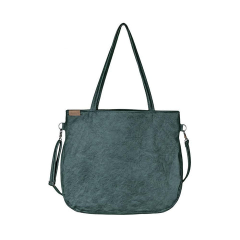 Green Tote bag crossbody everyday vegan faux leather bag
