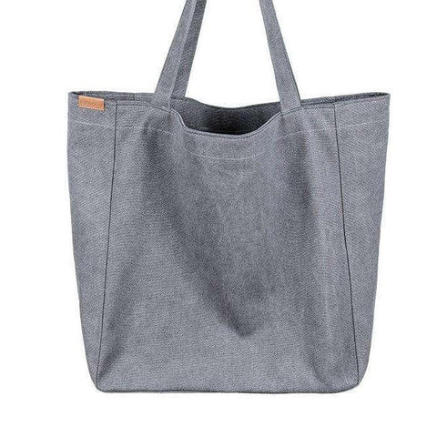 Grey Organic cotton oversized large Tote shopper bag