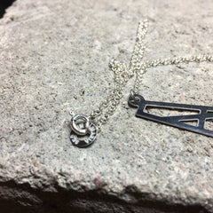 Small Reflection Necklace Steel and Silver