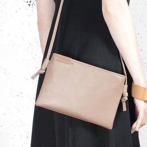 d881dcdea Khaki Organic Cotton Tote Shopper bag. 580 kr. QUICK VIEW · Nodo Mini  Clutch bag dark beige vegan faux leather