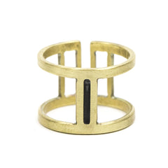 Nous Ring Adjustable Brass