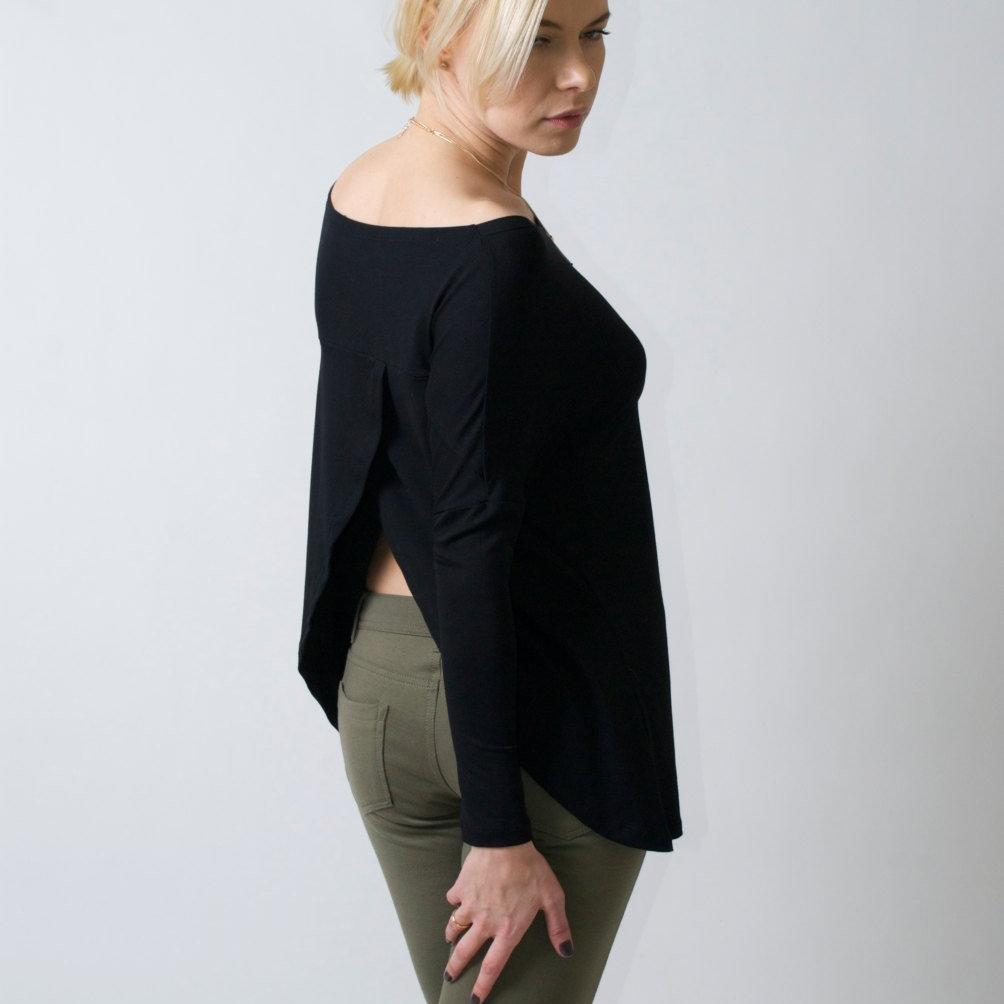 Open Back Long sleeve Top
