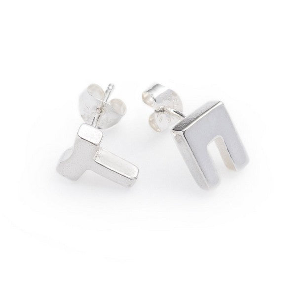 Oss stud Earrings Silver