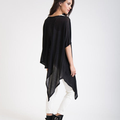 Oversized Long Tunic Asymmetric