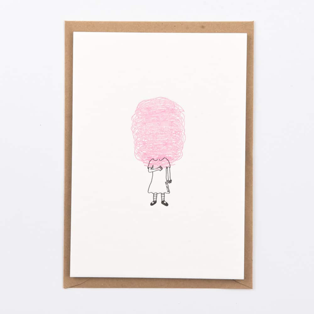 Cotton Candy - Letterpress Card