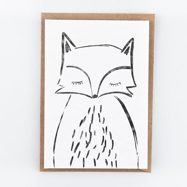 Fox Letterpressed Card