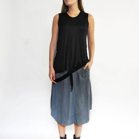Emy Skirt - Cold Dye Blue