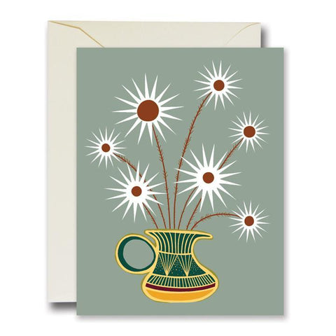 Friendly Flowers Grey Card
