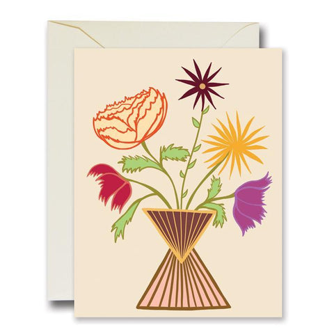 Friendly Flowers Ivory Card