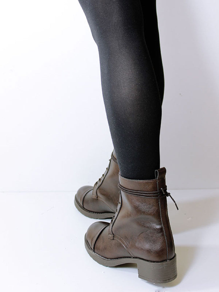 Aviator Boots Vegan Plant Leather & Recycled Rubber - women's sizes