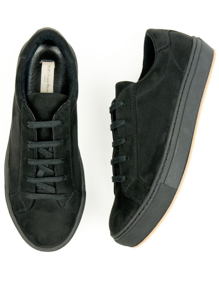 Black Vegan Suede Sneakers - Size 38