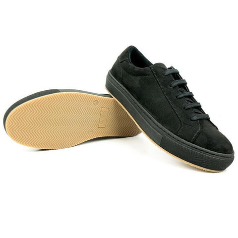 Black Vegan Suede Sneakers - women's and men's sizes