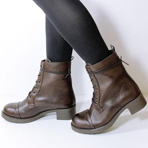 Aviator Boots Vegan Plant Leather & Recycled Rubber - women