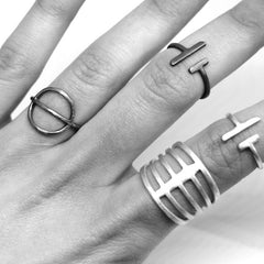 Viiva Ring Oxidized Silver
