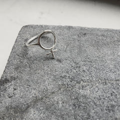 Ada Feminist Ring Silver or Bronze