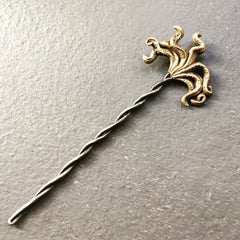 Octopus Hair Stick Bronze