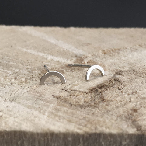 Arch Earrings Silver or Bronze
