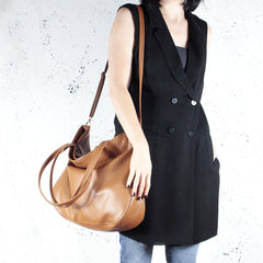 Brown Tote bag crossbody everyday vegan faux leather bag